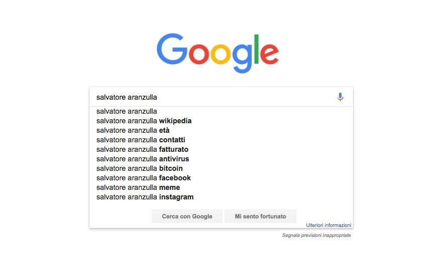 salvatore aranzulla google